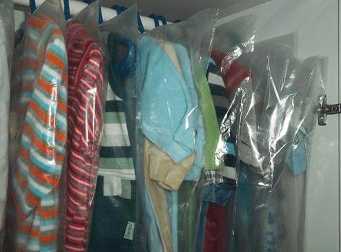 Sacos para roupas e sapatos